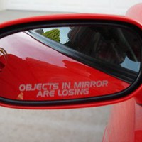 OBJECTS IN MIRROR ARE LOSING decal sticker Honda civic accord integra acura prelude crx jdm eg si v