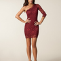 Lace Dress One Shoulder, John Zack