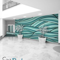Wall Mural Decal Sticker Arco Ocean Green Color MCrespo118