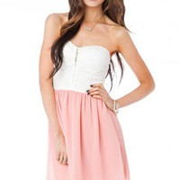 Denise Dress in Pink - ShopSosie.com