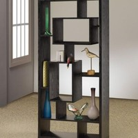Room Divider Shelf In Black Oak Finish by Coaster Furniture