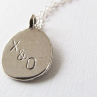 Personalized Initial Necklace, Sterling Silver Necklace