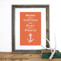 Play like a Pirate Screenprint 125 x 19 in Pick your by Monorail