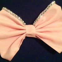 Hand Made Light Pink Diamond Bow