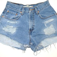 Vintage High Waisted Levi's Denim Shorts