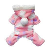 Pink Sweetie Dog Coat for Dog Clothes Dog Jumpsuit Soft Cozy Pet Clothes Pet Coat