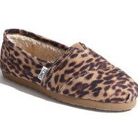 TOMS 'Leopard' Fleece Slip-On (Women) (Nordstrom Exclusive) | Nordstrom