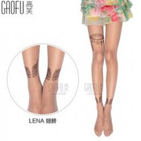 Wholesale Fashion tights with tattoo design GF-8110 wings 120D - Lovely Fashion
