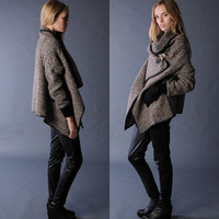 Cape Coat With Open Front Detail FM176