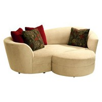 Lazar Cecillia Condo Sofa with 4 Matching Pillows - Sofas at Hayneedle