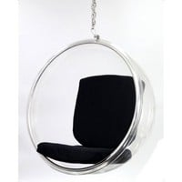 Bubble Hanging Chair - Black - Modern Living Room Furniture at Hayneedle