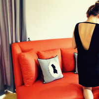 Impala Low Back Black Dress