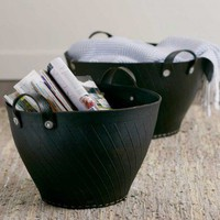 Recycled Rubber Storage Bins - VivaTerra