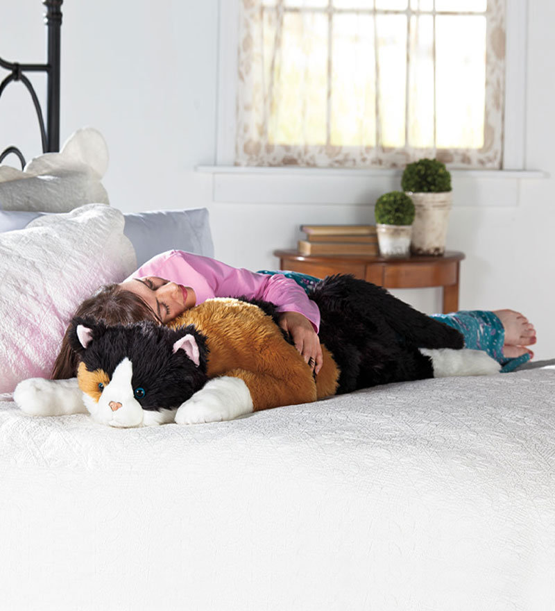 Big Animal Floor Pillows : Oversized Calico Cat Stuffed Animal Body from plowhearth.com