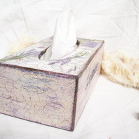 Romantic home lavender rustic paper napkin holder by Grimme