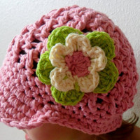 Floral Billed Beanie Newsboy style You pick by SoLaynaInspirations