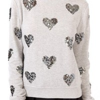Sequined Hearts Pullover | FOREVER 21 - 2000050033