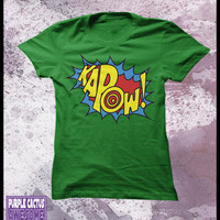 Kapow tshirt women's - sound effects, fight sounds
