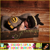 Crochet Pattern Batman and Robin  Cuddle by calleighsclips