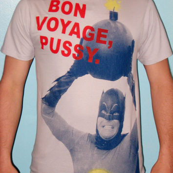Crazy Adam West Batman TShirt size EXTRALARGE by headhunterapparel