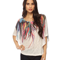 Painted Feathers Poncho Top | FOREVER21 - 2015035663