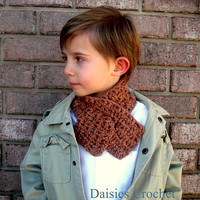 Boy Girl Unisex Neck warmer Childs Scarf  by daisiescrochet