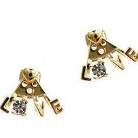 New COME Gold Metal Charm Crystal Option Love Heart Ear Cuff Earring(WP-G-85): Jewelry: Amazon.com