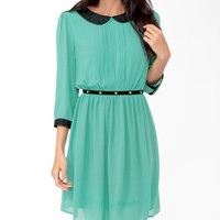 Pintucked Collar Dress