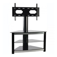 Omnimount Elements 403FP 3-Shelf Flat-Panel Floor Stand for Most 32-Inch to 47-Inch Flat Panels (Black)