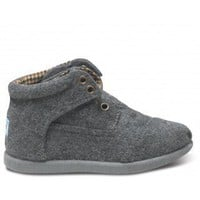 Tiny TOMS - Grey Wool Tiny TOMS Botas | TOMS.com