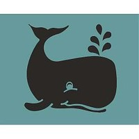 Whale Chalkboard Wall Decal