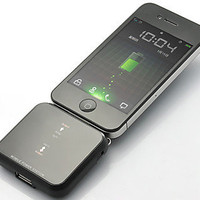 Mini Universal Solar Battery Charger for iPhone, iPod, Android Phone and USB Devices - Black