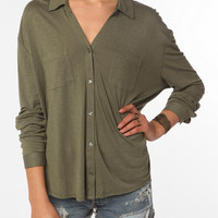 Urban Outfitters - Staring at Stars Button-Down Knit Shirt