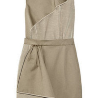 Carven Ruffled cotton-gabardine and crepe dress - 65% Off Now at THE OUTNET
