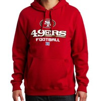 NFL Men's San Francisco 49ers Critical Victory V Long Sleeve Hooded Fleece Pullover (Bright Cardinal, XX-Large)