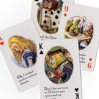 5pcs Repro ALICE IN WONDERLAND Amazing Cards