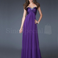 Beautiful A-line Empire Waist Floor Length Graduation Dress from SinoSpecial