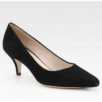 Salvatore Ferragamo Suede Point Toe Pumps