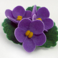 Felted brooch boutonniere lilac flower Violet by Roltinica on Etsy