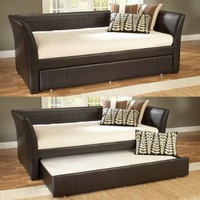 Hillsdale Furniture 1519DBT Malibu Day Bed, Brown Leather