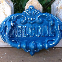 Nautical BleuRustic Front Door Knocker Royal by AlacartCreations