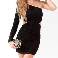 Ruched Core Cutout Dress