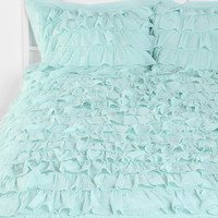 Urban Outfitters - Waterfall Ruffle Sham - Set Of 2