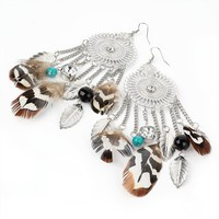 Bethel Bohemian ? Phoenix Tribal Feather Earrings