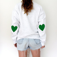 Elbow Heart Sweatshirt - Green