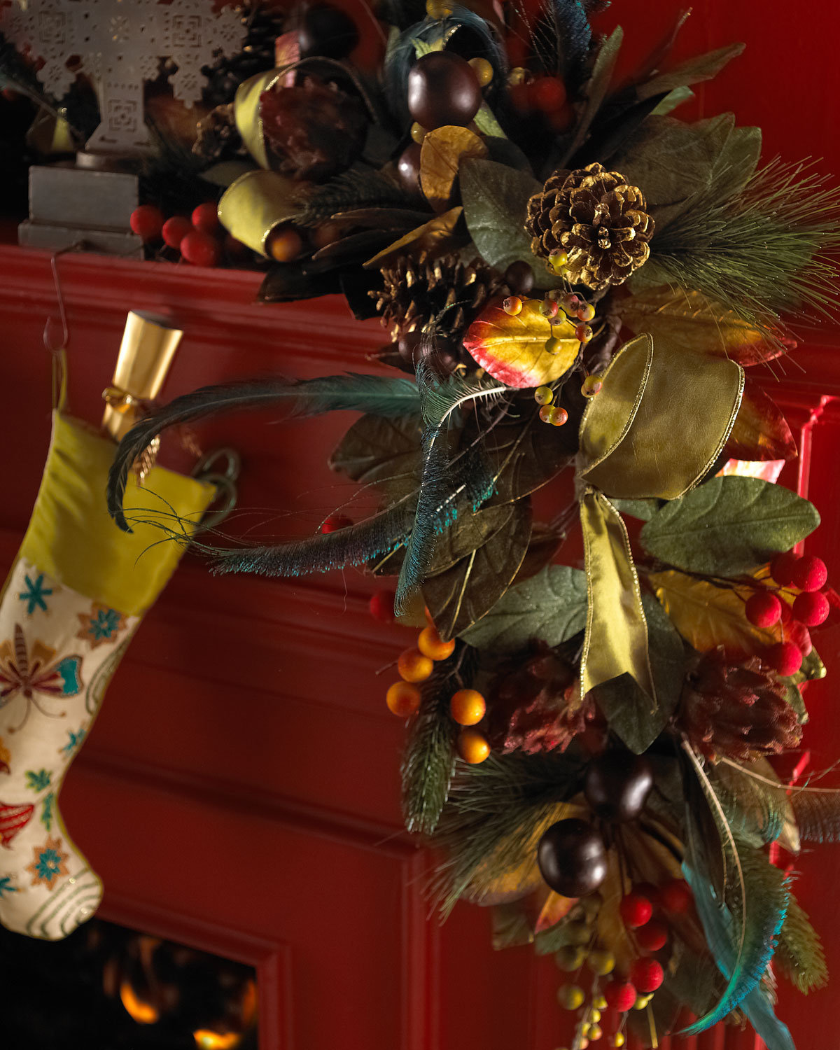 """Plumage"" Christmas Garland from Tamilee Decors - Horchow"