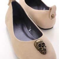 Nude Faux Suede Skull Decor Casual Flats @ Amiclubwear Flats Shoes online store:Women's Casual Flats,Sexy Flats,Black Flats,White Flats,Women's Casual Shoes,Summer Shoes,Discount Flats,Cheap Flats,Spring Shoes,Cute Flats Shoes,Women's Flats Shoes,Sneaker