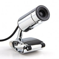 4,0 Megapixel USB-Webcam + Mikrofon (silber) - US$10.63