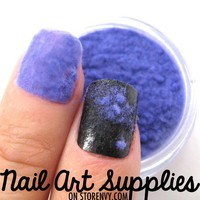 Purple Sweater Nails - Furry Velvet Flocking Nail Art Powder Mix