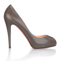 christian louboutin gray peep toe pumps - $176.00